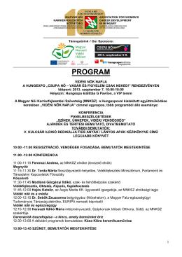 PROGRAM - Magyar Női Karrierfejlesztési Szövetség