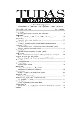 2. szám [2011. október] - PTE Felnőttképzési és Emberi Erőforrás