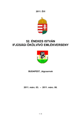 Énekes István Emlékverseny (Budapest, 2011. március 3-6.)