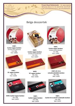 Belga desszertek - Present Royal Reklám