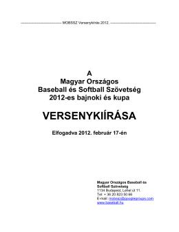 MOBSSZ Versenykiírás 2012