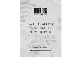 ISABELLE LANCRAY ÉS DR. RIMPLER KOZMETIKUMOK