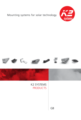 K2 SYSTEMS ProducTS GB