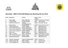 Nennliste - RRC13-FIA-CEZ-Rallycross Nordring 29.Juni 2014 23