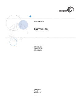Barracuda SATA Product Manual