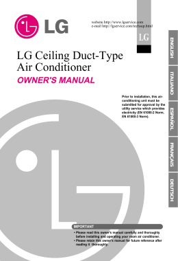 LG Ceiling Duct-Type Air Conditioner