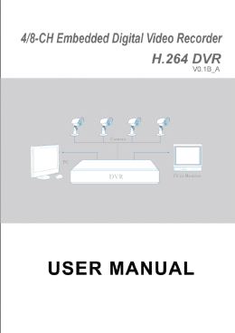 1 4 / 8-channel Embedded Digital Video Recorder