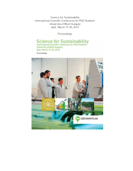 Science for Sustainability International Scientific
