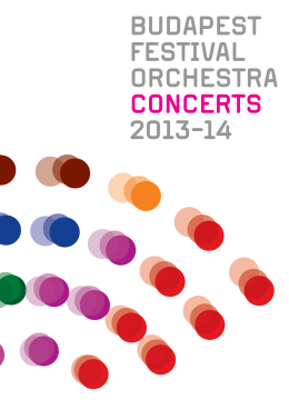 BUDAPEST FESTIVAL ORCHESTRA CONCERTS 2013-14