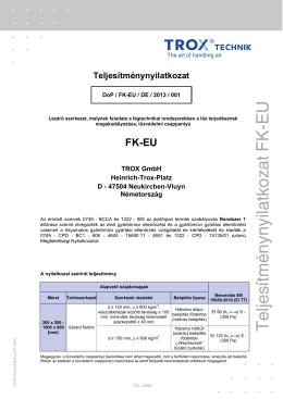 Teljesítménynyilatkozat FK-EU