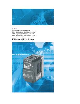 MX2 Felhasználói kézikönyv (magyar)