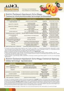 Biolchim csonthéjas technológia