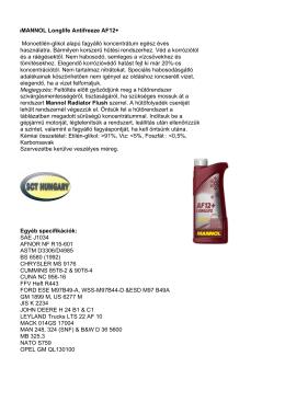 MaMANNOL Longlife Antifreeze AF12+ - SCT