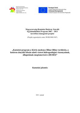 Kutatási jelentés