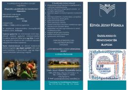tájékoztató - Eötvös József Főiskola