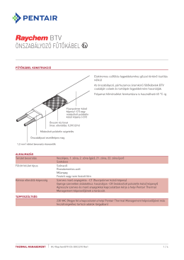 Önszabályozó fűtőkábel - Pentair Thermal Controls