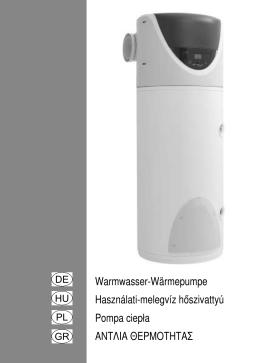 Warmwasser-Wärmepumpe Használati