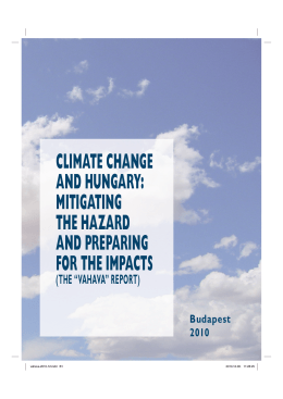 CLIMATE CHANGE AND HUNGARY: MITIGATING THE HAZARD