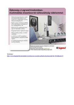 Weboldal: http://www.legrand.hu/termekek/vezetekes-es