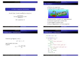 A Python alapjainak áttekintése - Óbudai Egyetem