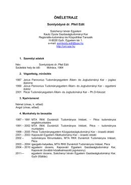 Link - Regionális - Tudományi és Közpolitikai Tanszék