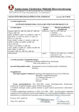 EUROKERAMIKA/ ALFÓKDI mázas_beltéri