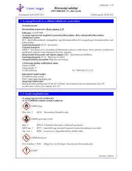 Biztonsági adatlap - DR