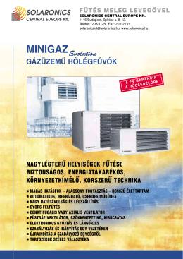 Minigaz MH MV MC termékismertető