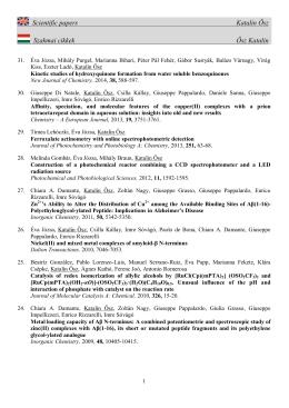 Scientific Papers (pdf)