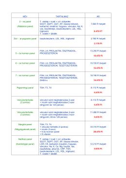 Komplett panelek árai - Gabriel Medical Studio