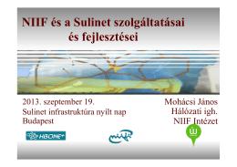 NIIF és a Sulinet szolgáltatásai és fejlesztései