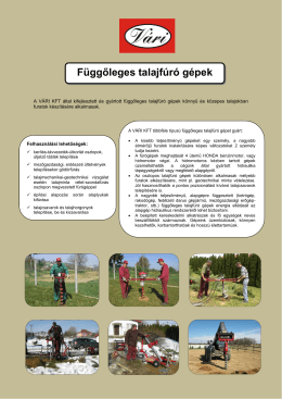 Függőleges talajfúró gépek - Vári Gépgyártó és Forgalmazó Kft.