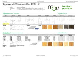 Bambusz parketta árlista 2015