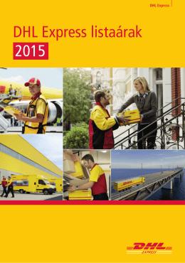 DHL Express listaárak 2015