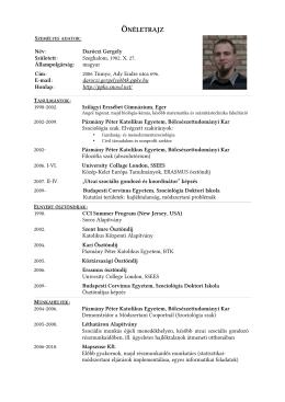 letöltés - Daróczi Gergely honlapja
