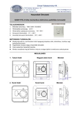 SAS811 Felhasználói kézikönyv