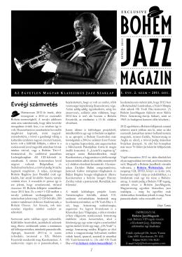 Évvégi számvetés - Bohém Ragtime Jazz Band