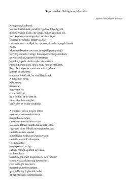 Sajó László: Holtágban folyamőr