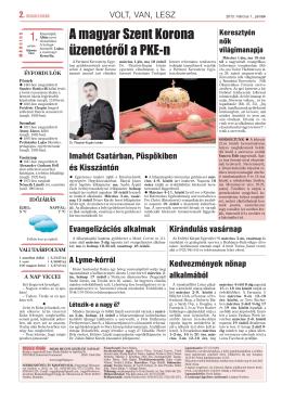 02 oldal volt van lesz.qxd - Partiumi Keresztény Egyetem