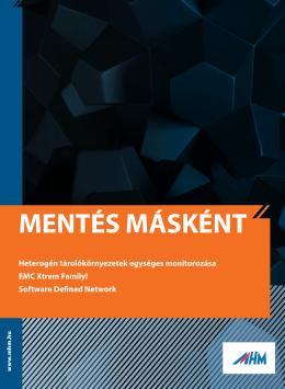 Mentés Másként 2013/1 - MHM Computer Hungária Kft.