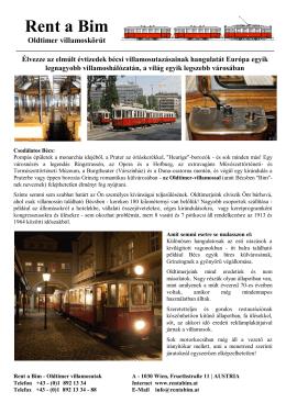 RENT A BIM - Sonderfahrten mit historischen Wiener