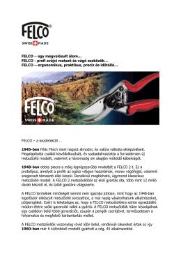 FELCO - Profi svájci metsző és vágó eszközök