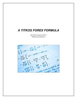 A titkos Forex Formula