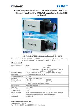 Avio TS beépíttett hőkamerák -, RS