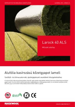 Larock 40 ALS alufólia kasírozású kőzetgyapot lamell