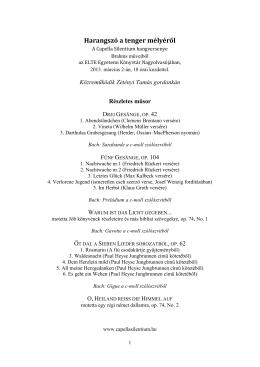 Részletes műsor és ismertető ( PDF)
