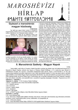 Március 2013 - Maroshévízi Hírlap