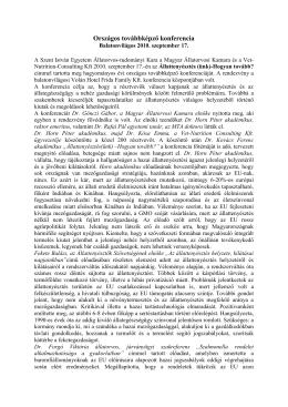 Beszámoló a 2010. évi Országos Továbbképző Konferenciáról