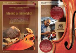 Istennô a műhelybôl - Magyar Hangszerész Szövetség