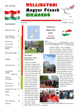 PDF - Magyar Fészek Hírmondó